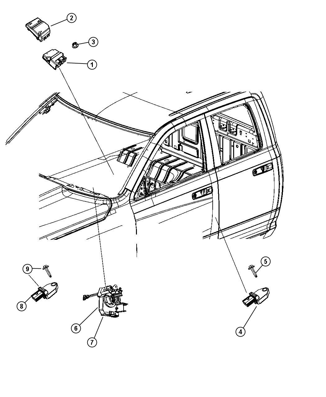 Dodge Ram Module Occupant Restraint After 01