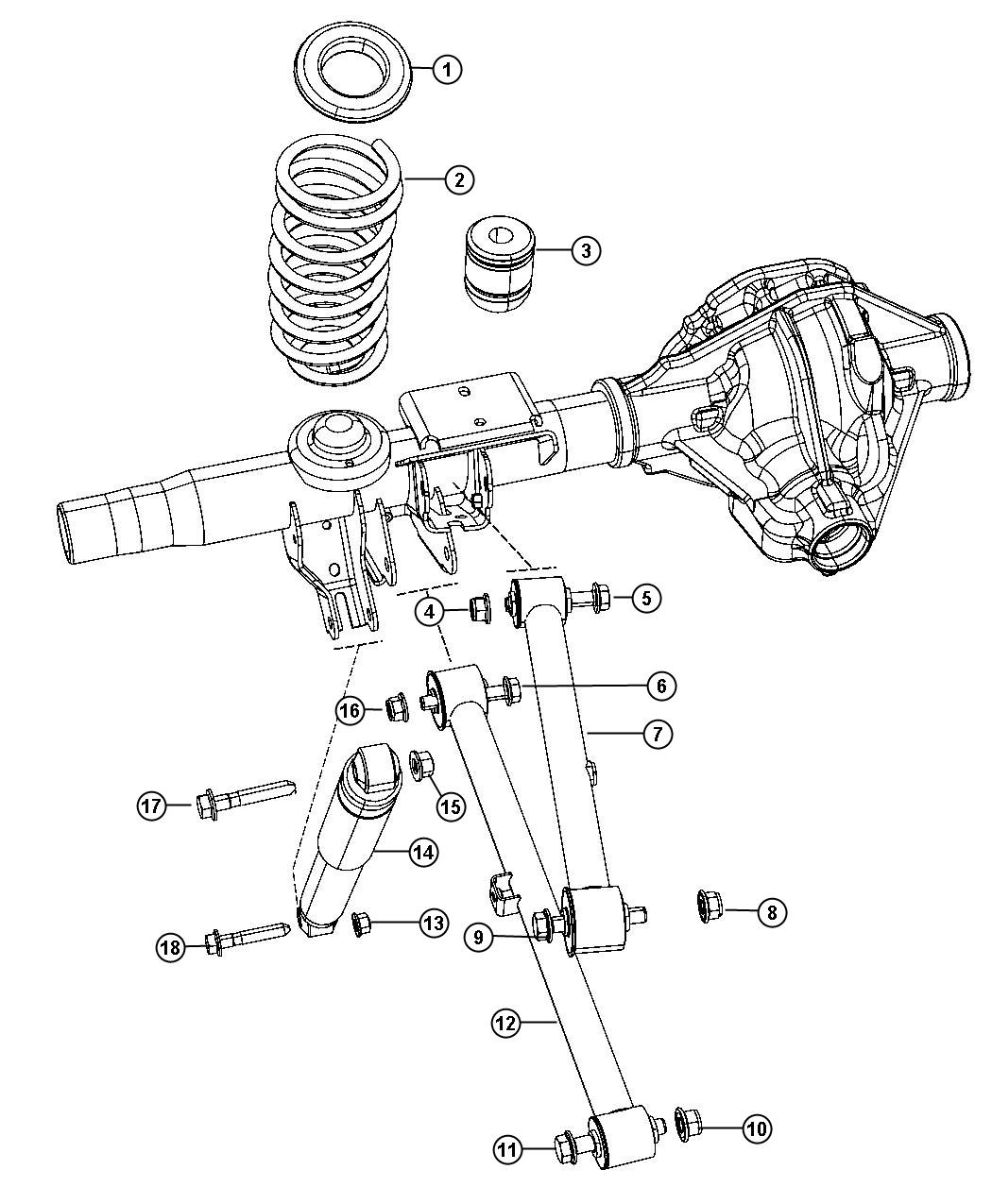 Dodge Ram Shock Absorber Suspension Rear Heavy