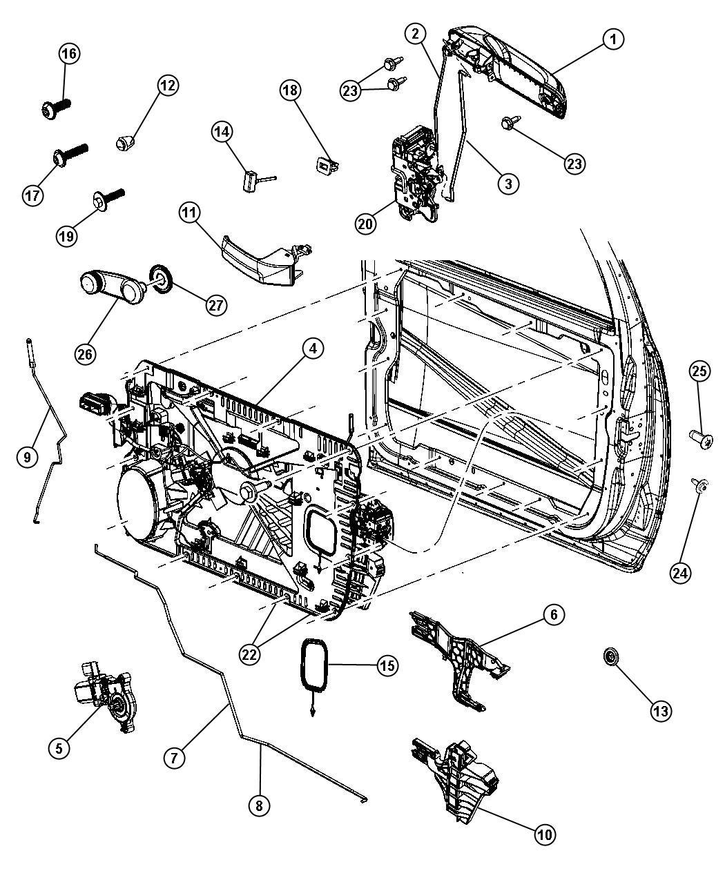 Dodge Ram Latch Front Door Right Locks Power