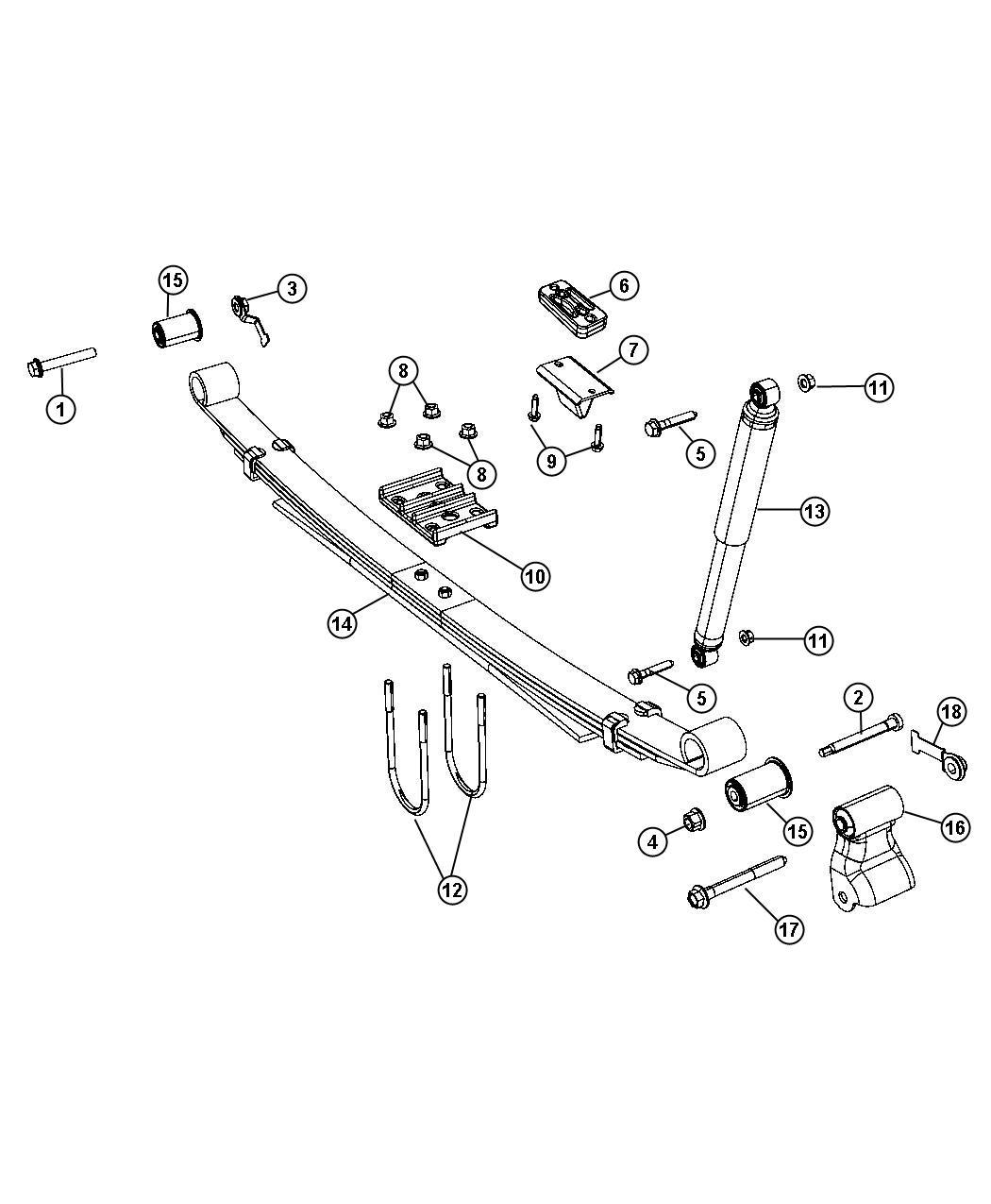 Ram Shock Absorber Suspension Rear Duty