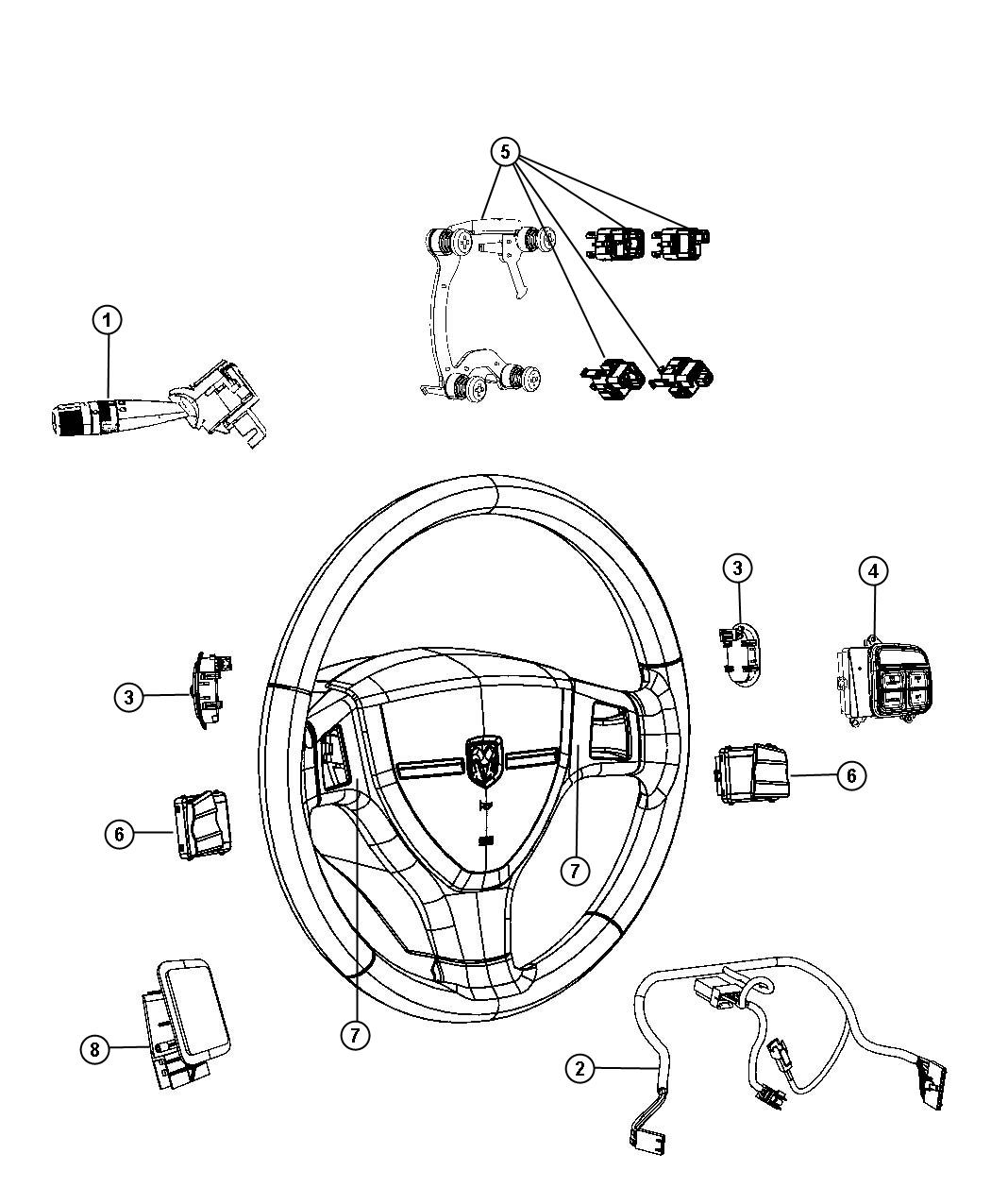 Dodge Ram Wiring Steering Wheel Trim No