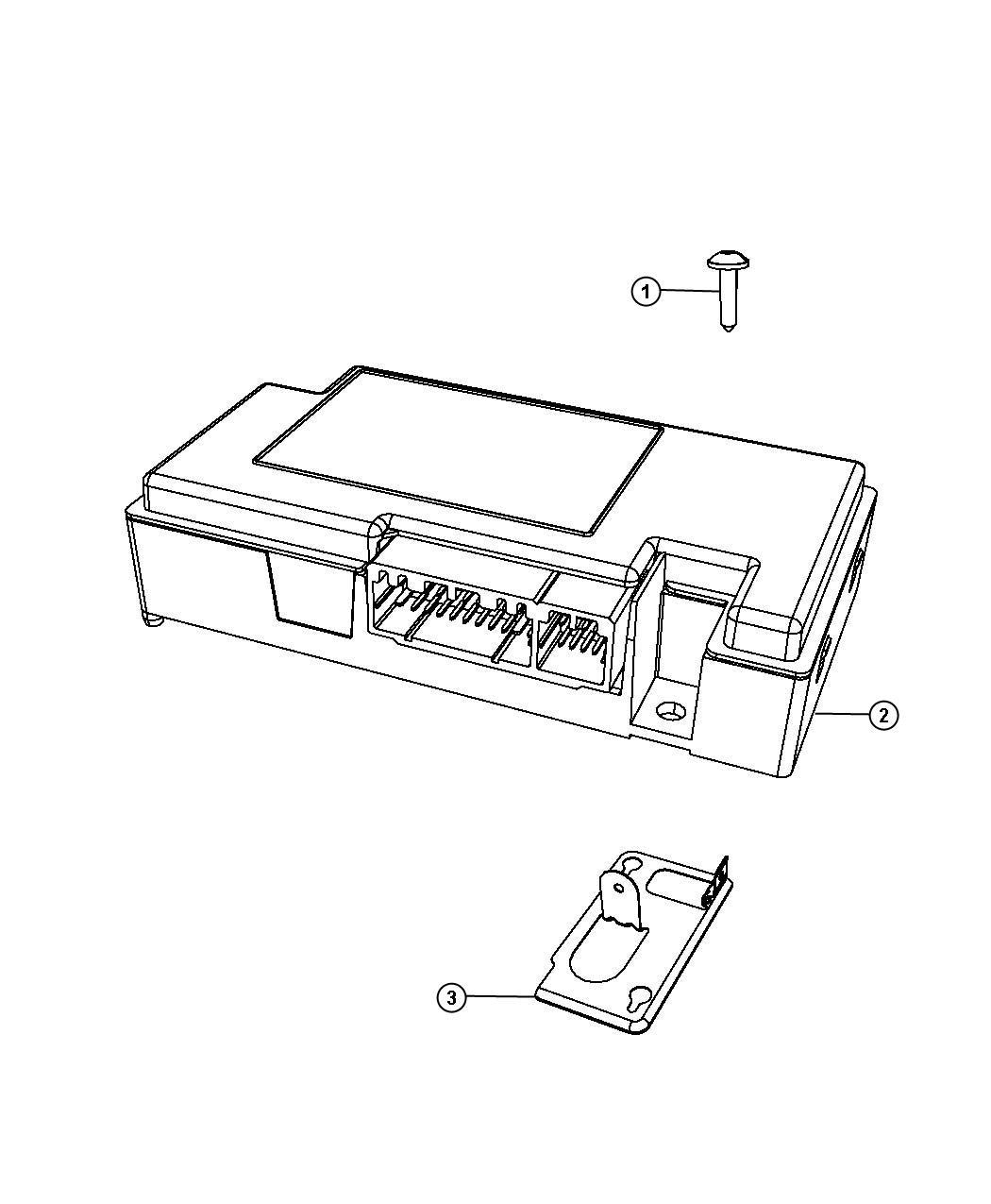Dodge Journey Module Telematics Uconnect Command Bluetooth