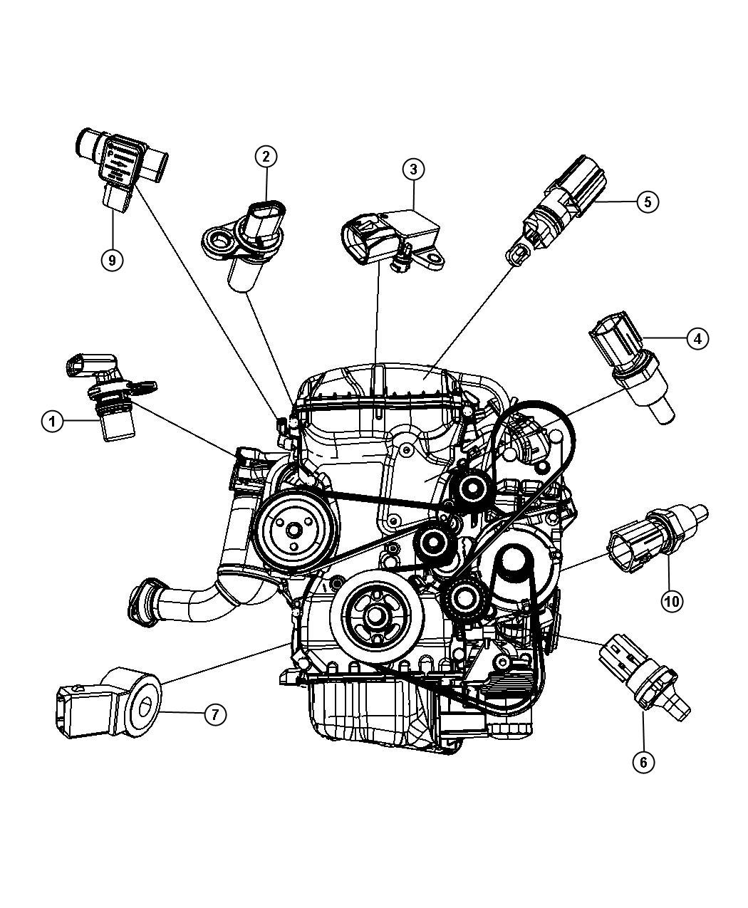 Chrysler 200 Sensor Crankshaft Position Vehicle Speed