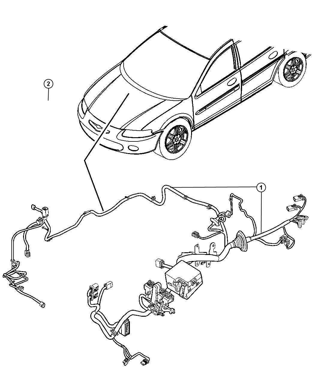 Dodge Avenger Wiring Headlamp To Dash Mopar Electrical
