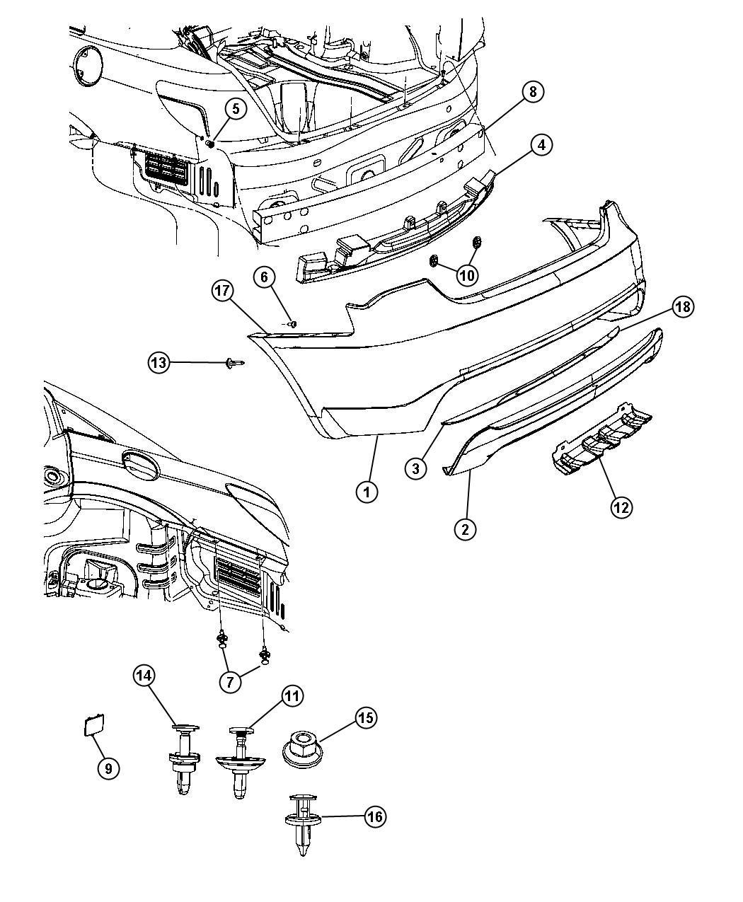 Dodge Avenger Bracket Fascia Left Panel Rear Quarter