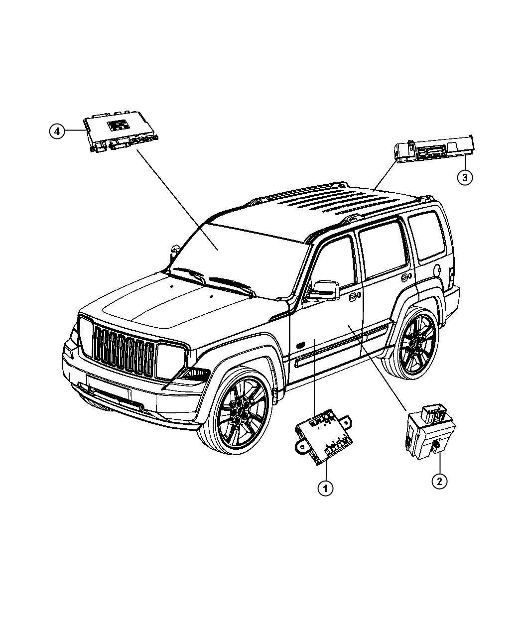 Jeep Liberty Module Heated Seat Trim Cloth Vinyl Low