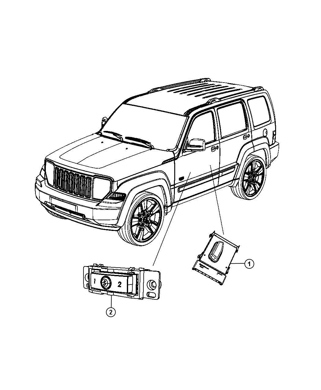 Jeep Liberty Switch Power Seat Passenger Right Trim