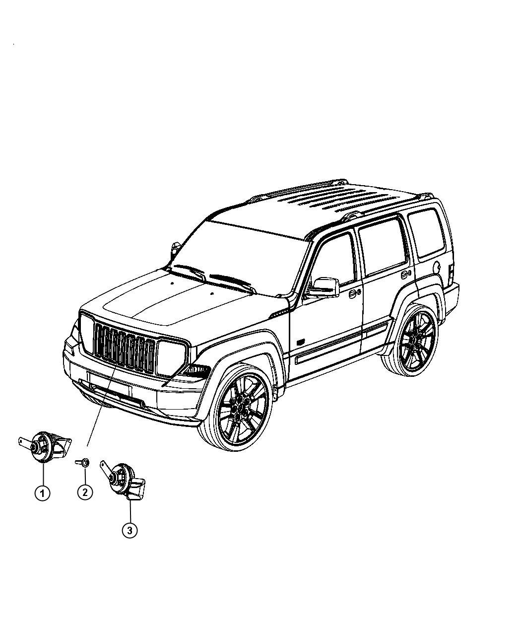 Jeep Liberty Used For Horn And Bracket High Note