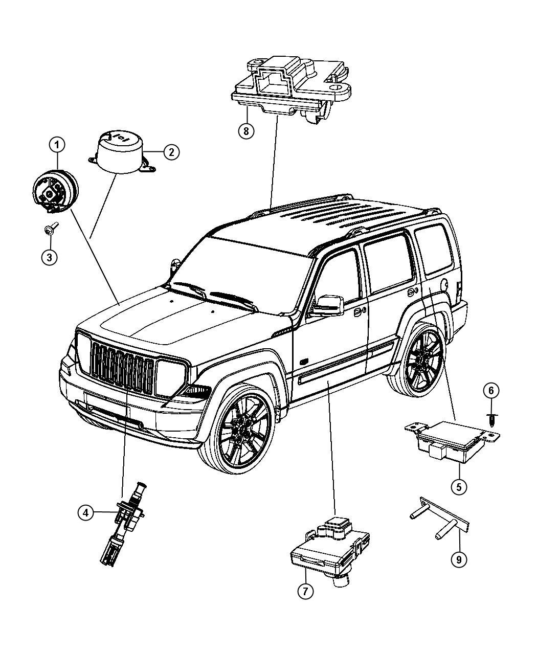 Jeep Liberty Transmitter Anti Theft Thatcham