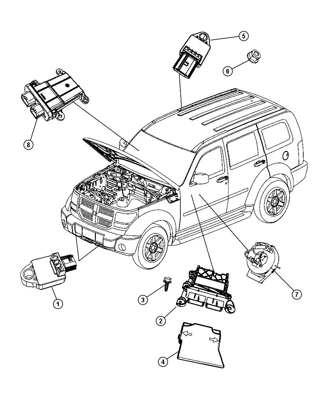 Jeep Liberty Module Occupant Restraint Air Bags