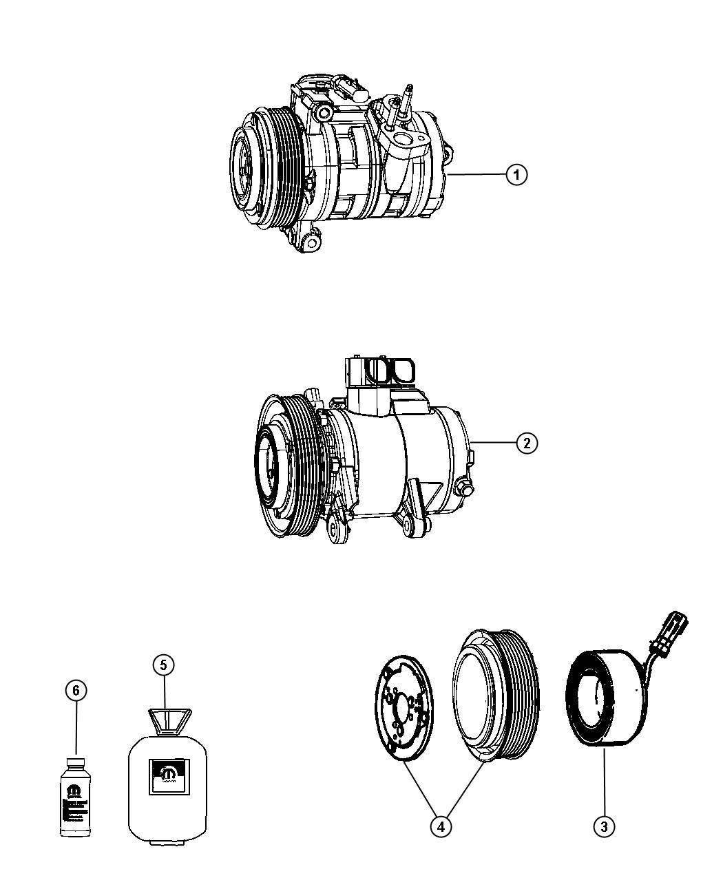 Jeep Liberty Compressor Air Conditioning