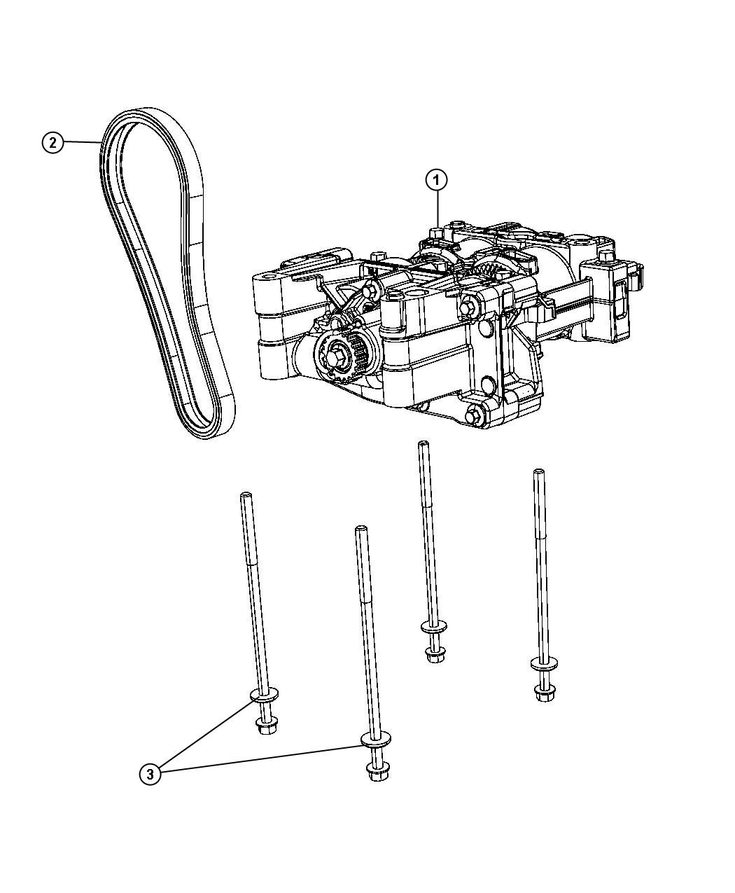 Jeep Patriot Shaft Package Balance With Oil Pump Engine