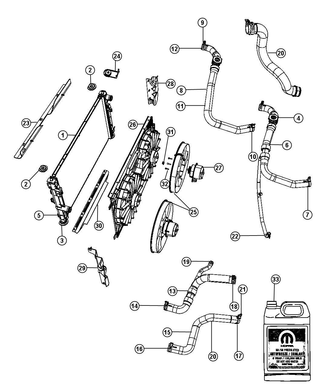Jeep Compass Shroud Fan Air Related Radiator