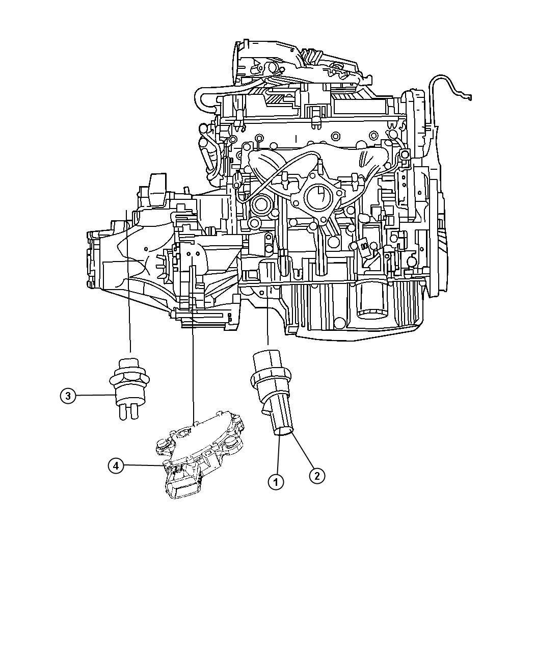 Dodge Caliber Sending Unit Oil Pressure