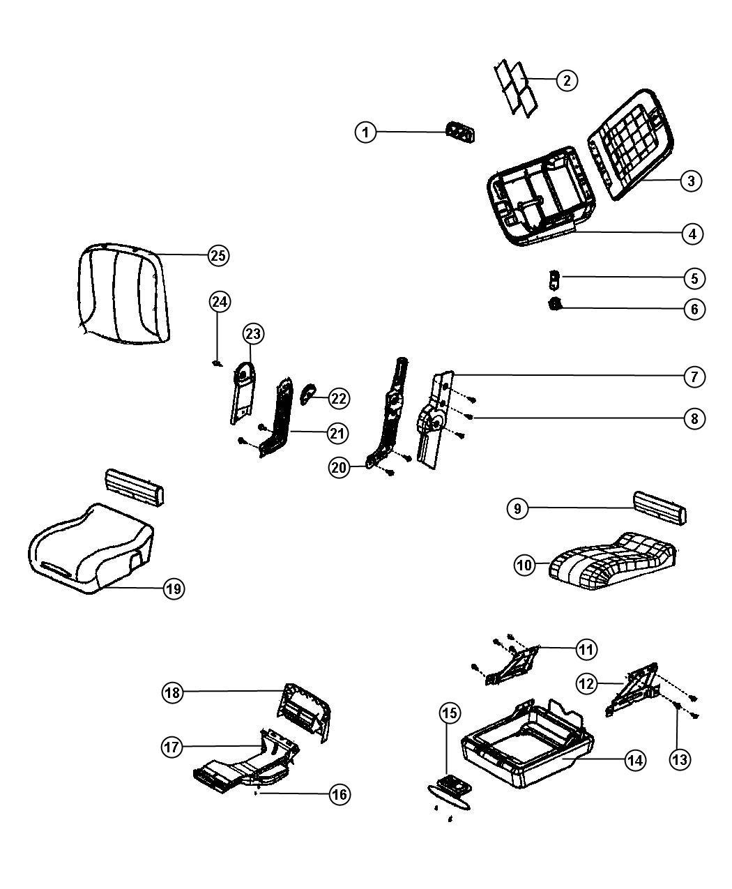 Dodge Ram Cover Shield Armrest Seat Left Trim