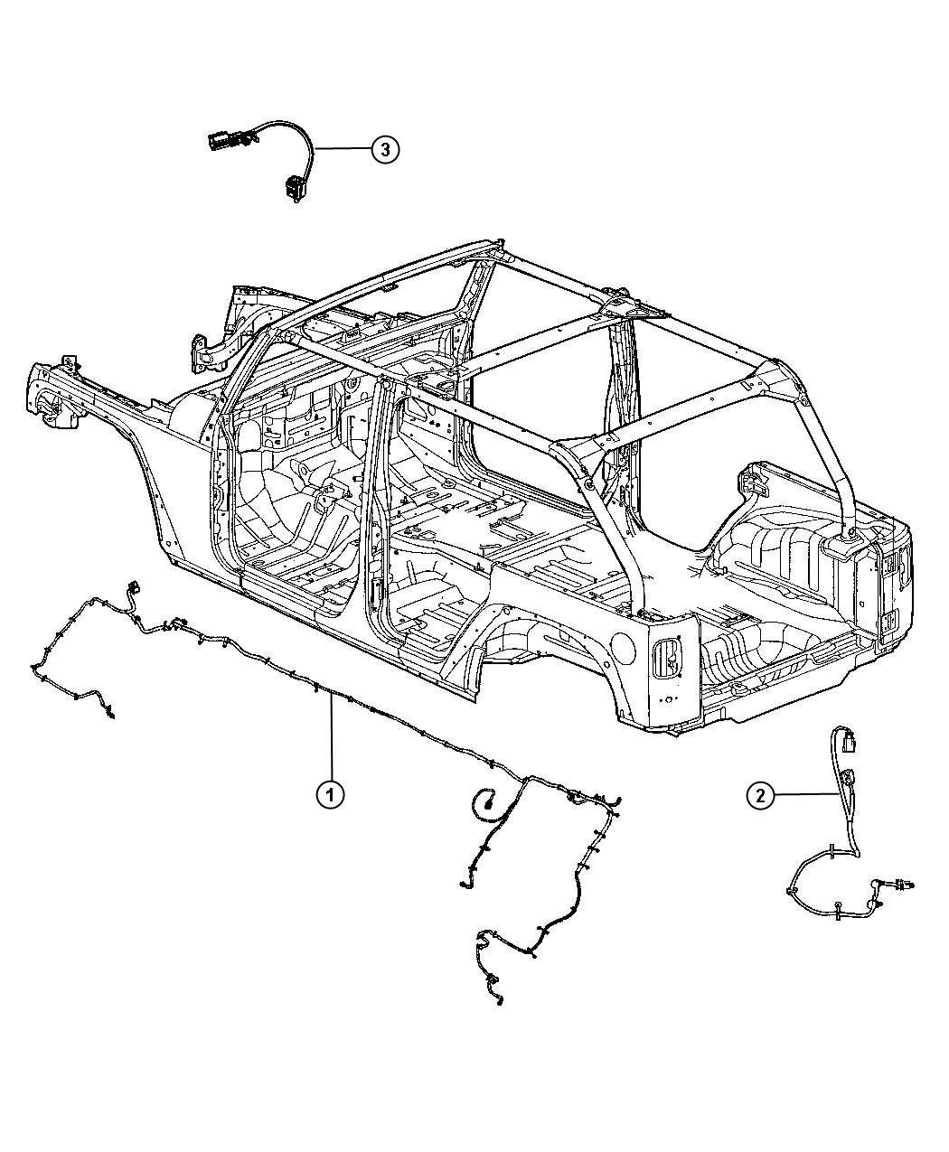 Jeep Wrangler Wiring Chassis Tru Lok Front And Rear