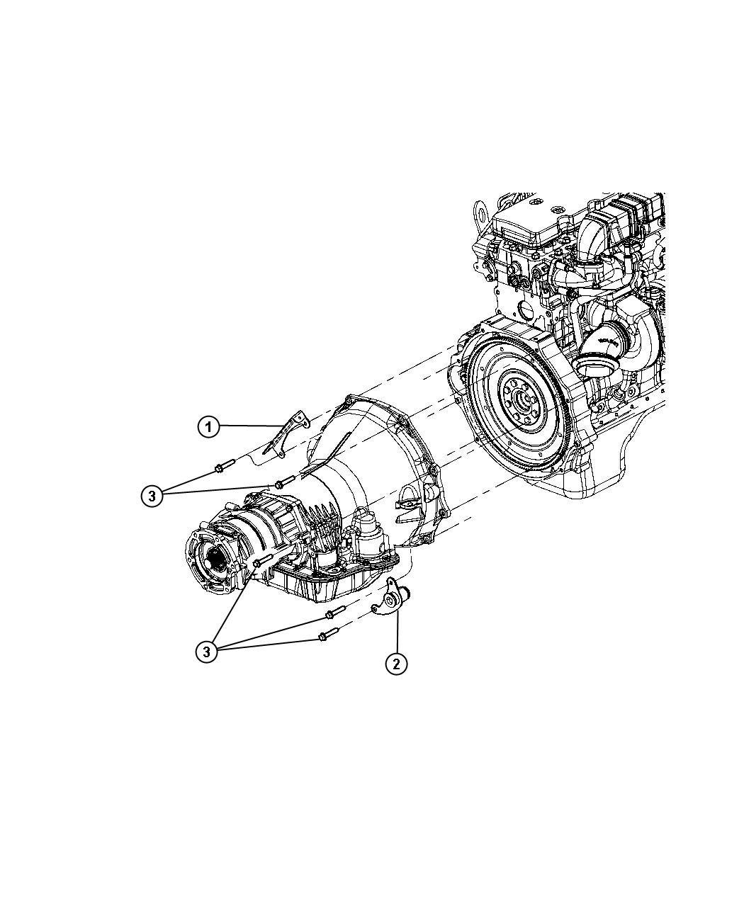 Dodge Ram Bracket Transmission Line Wiring Engine