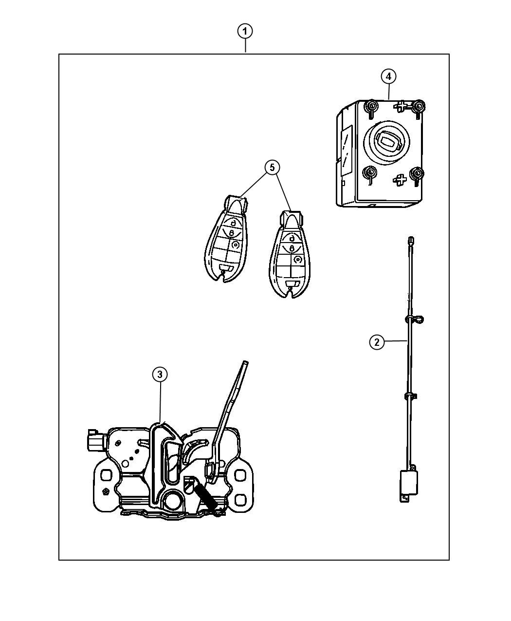 Jeep Grand Cherokee Transmitter Integrated Key Fob Trim