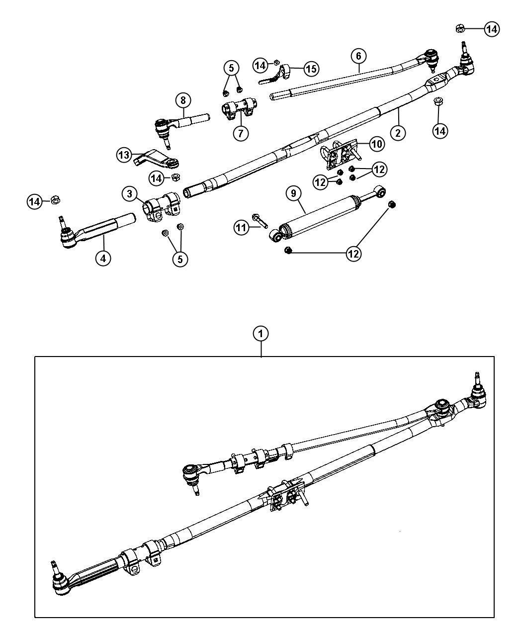 Dodge Ram Adjuster Tube Drag Link Tie Rod