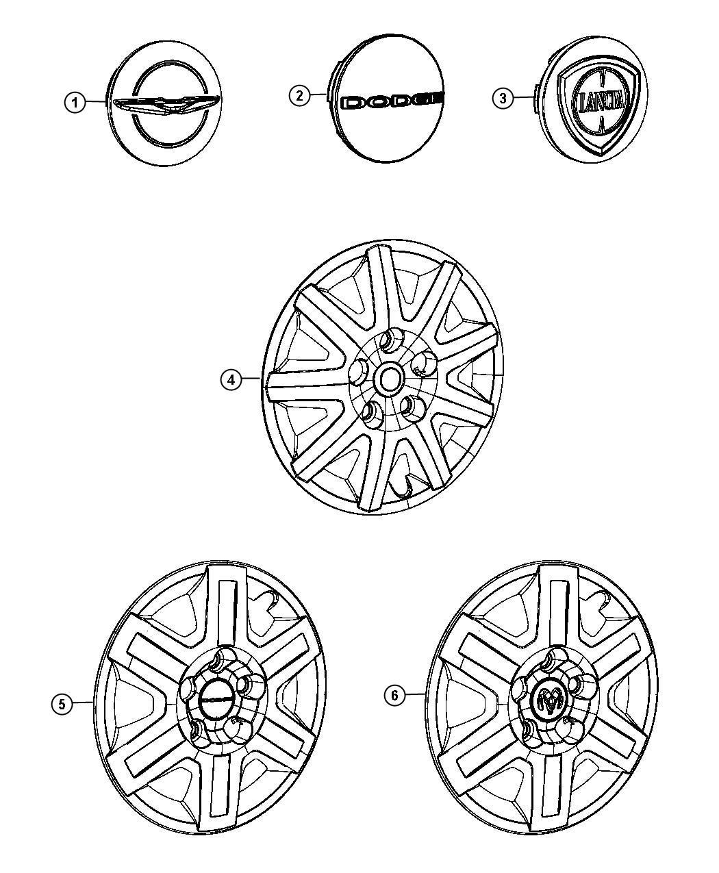 Dodge Grand Caravan Cover Wheel Covers Inch