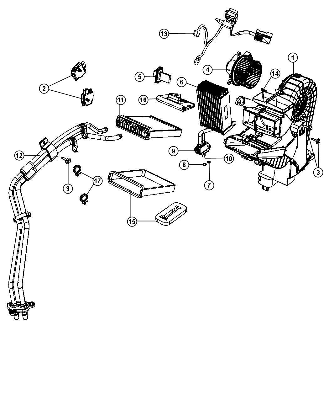 Ram Base Tube Heater Core Zone Control Rear