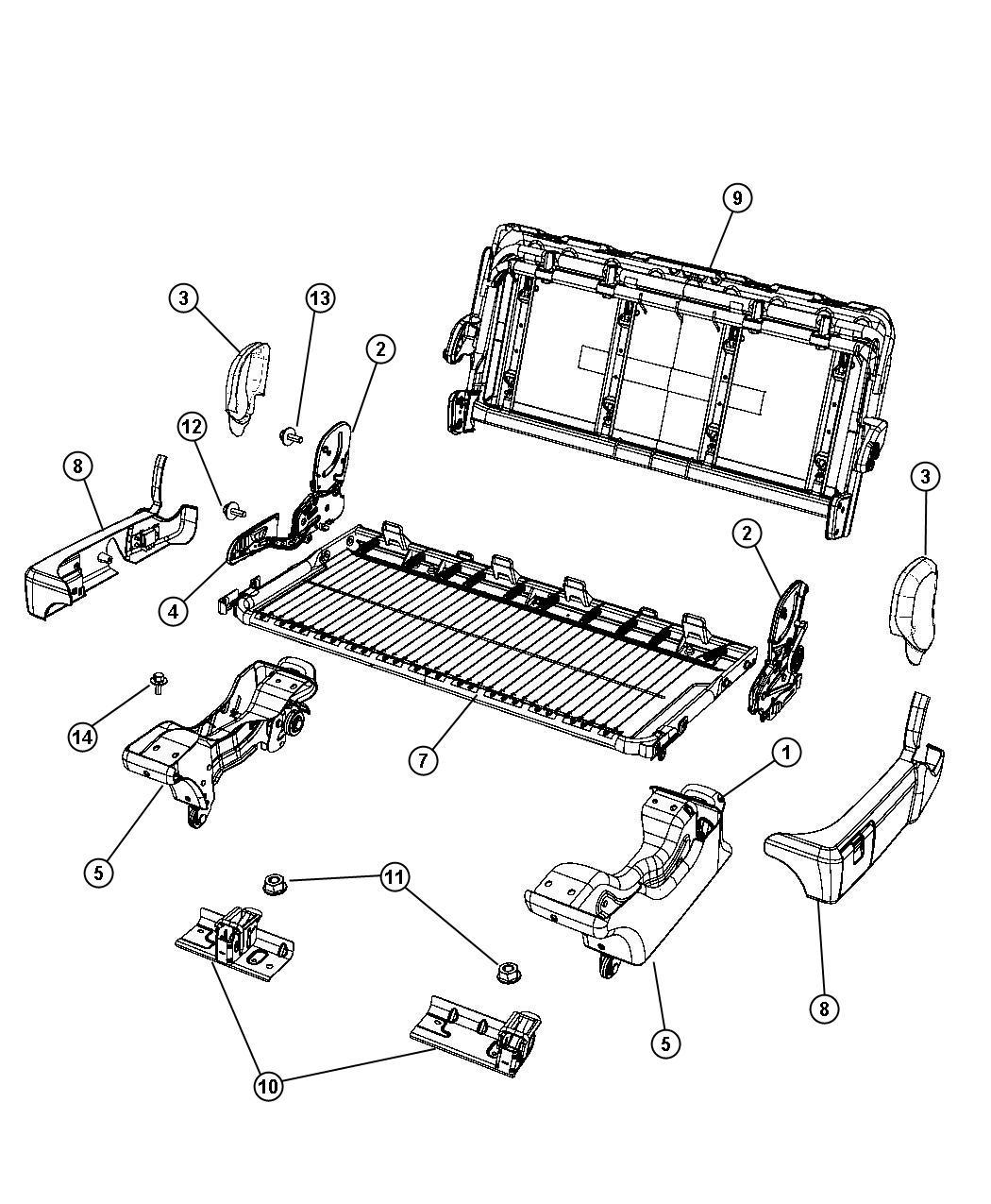 Dodge Grand Caravan Bracket Left Seat Sear Striker
