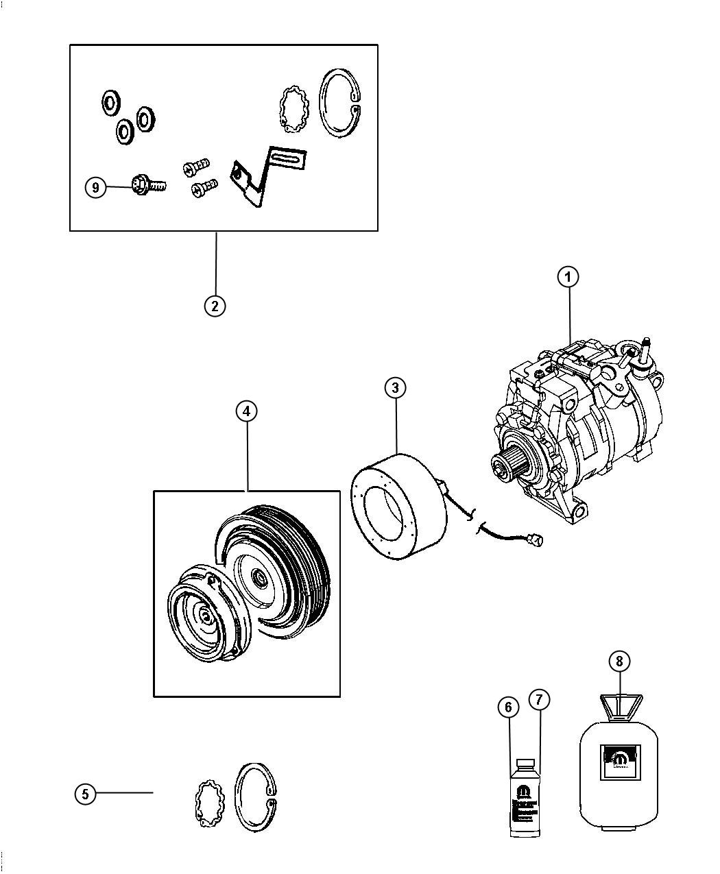 Dodge Challenger Compressor Air Conditioning