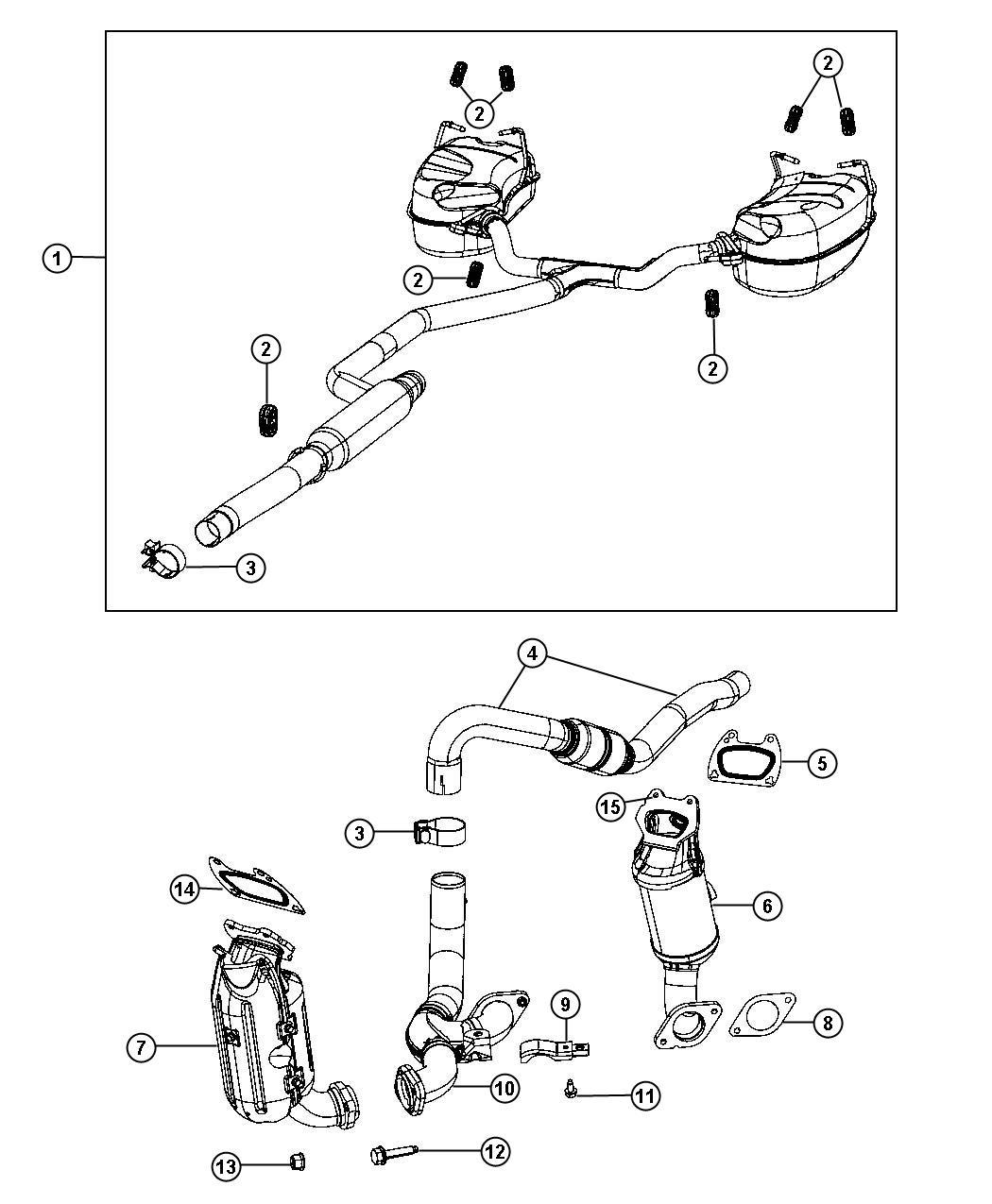 Dodge Journey Pipe Exhaust Crossunder After 06 20 12 Up