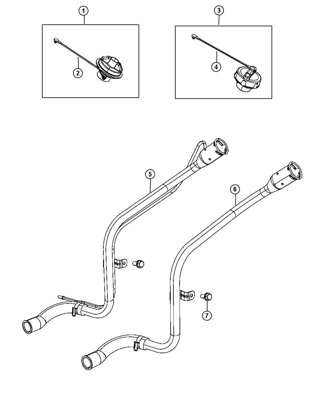 Dodge Caliber Tube Fuel Filler