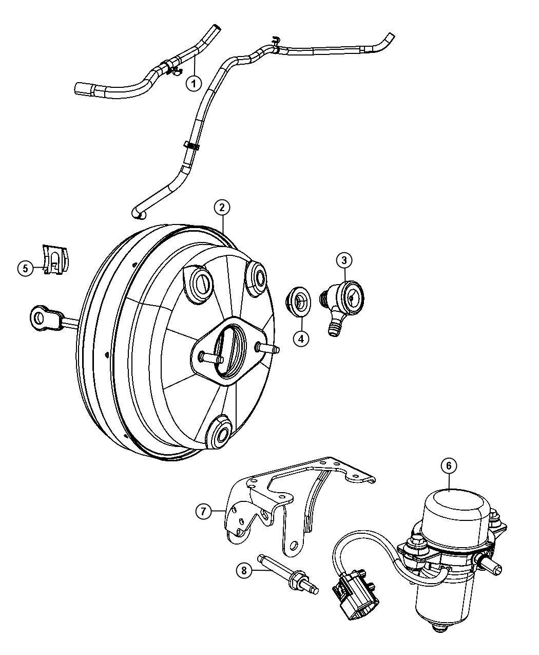Dodge Journey Hose Vacuum Jumper Engine Booster