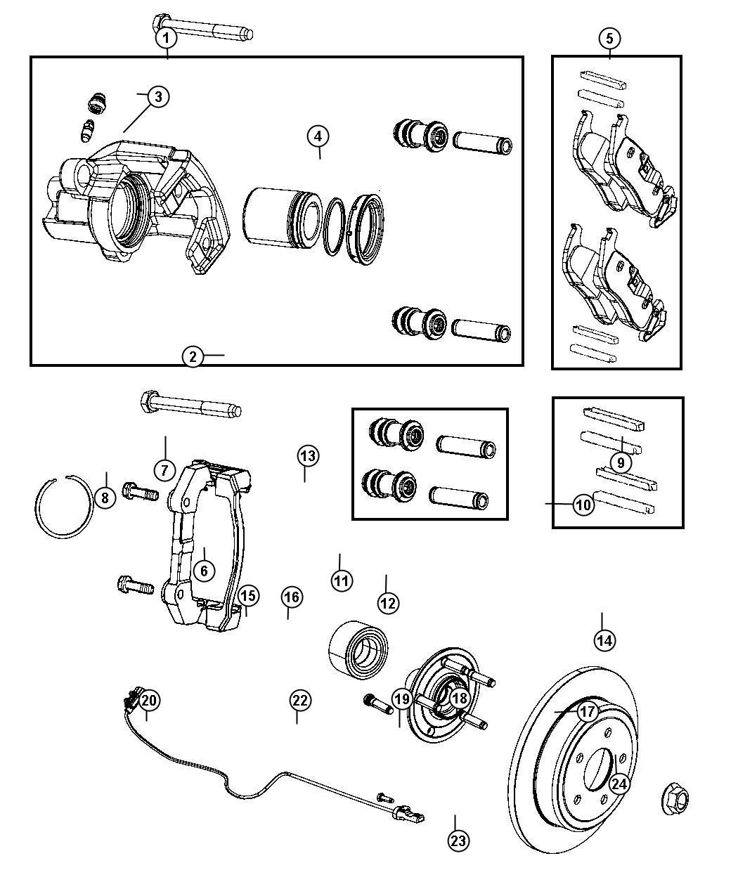 Jeep Grand Cherokee Pad Kit Rear Disc Brake Br4
