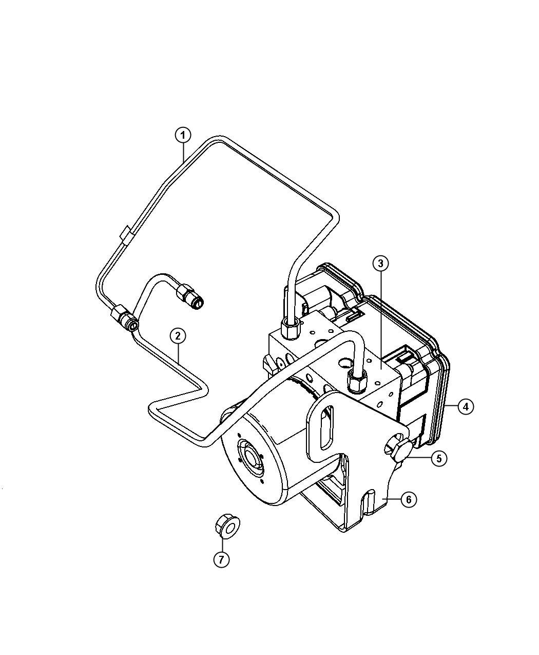 Jeep Grand Cherokee Module Anti Lock Brake System