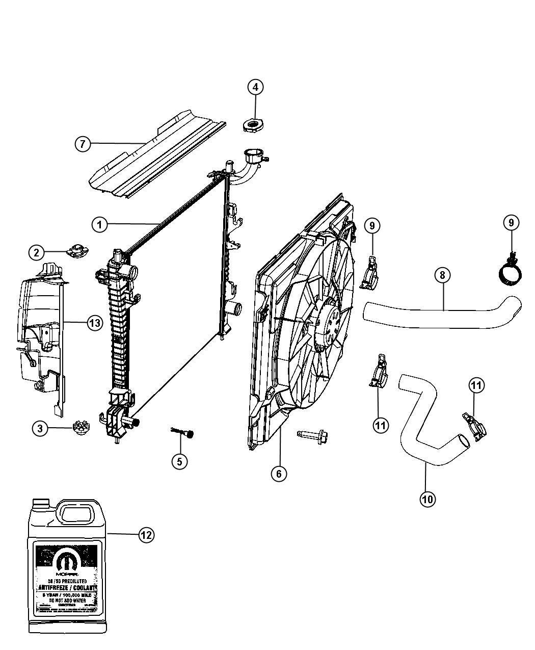 Dodge Durango Hose Radiator Inlet Related Gas Cooling