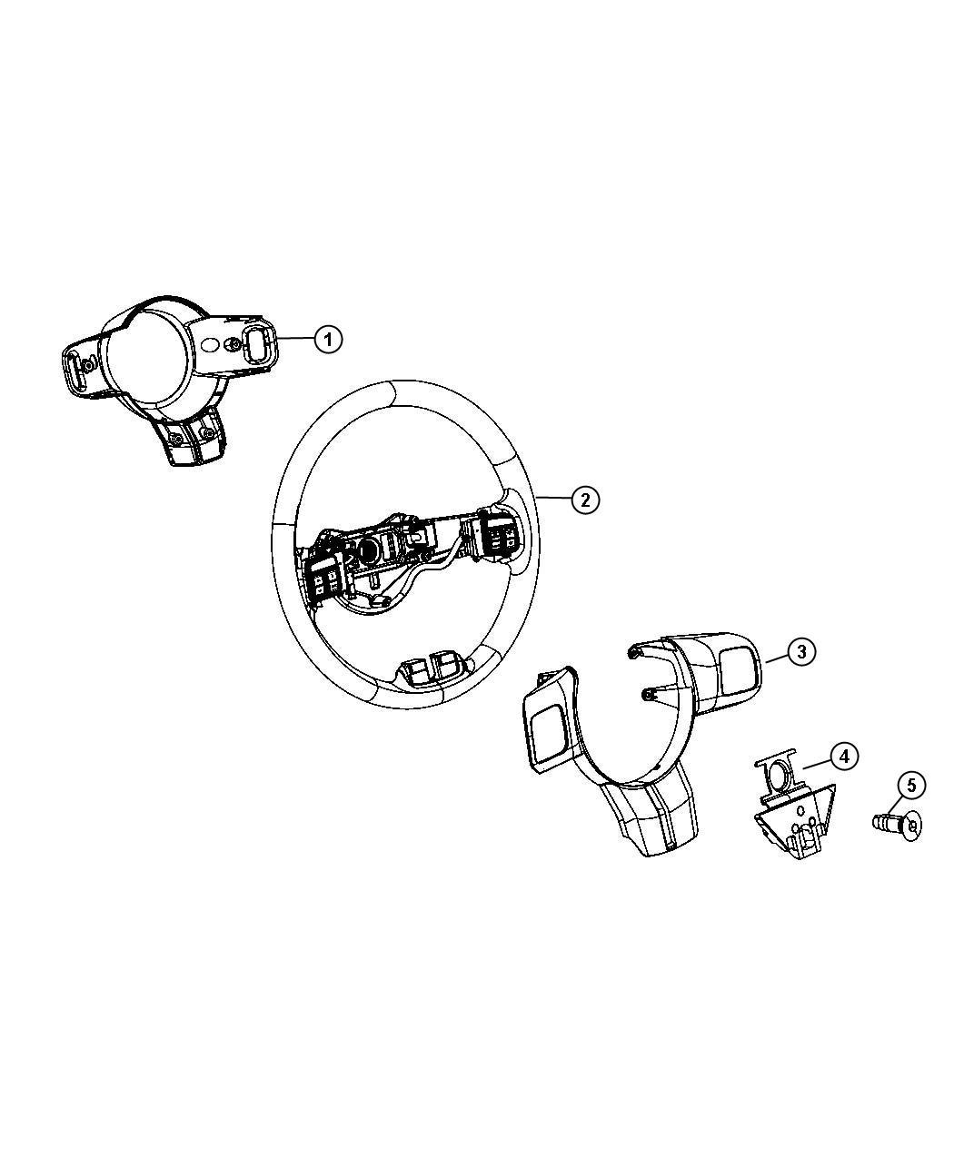 Jeep Grand Cherokee Wheel Steering Export Trim All Trim Codes Color Black