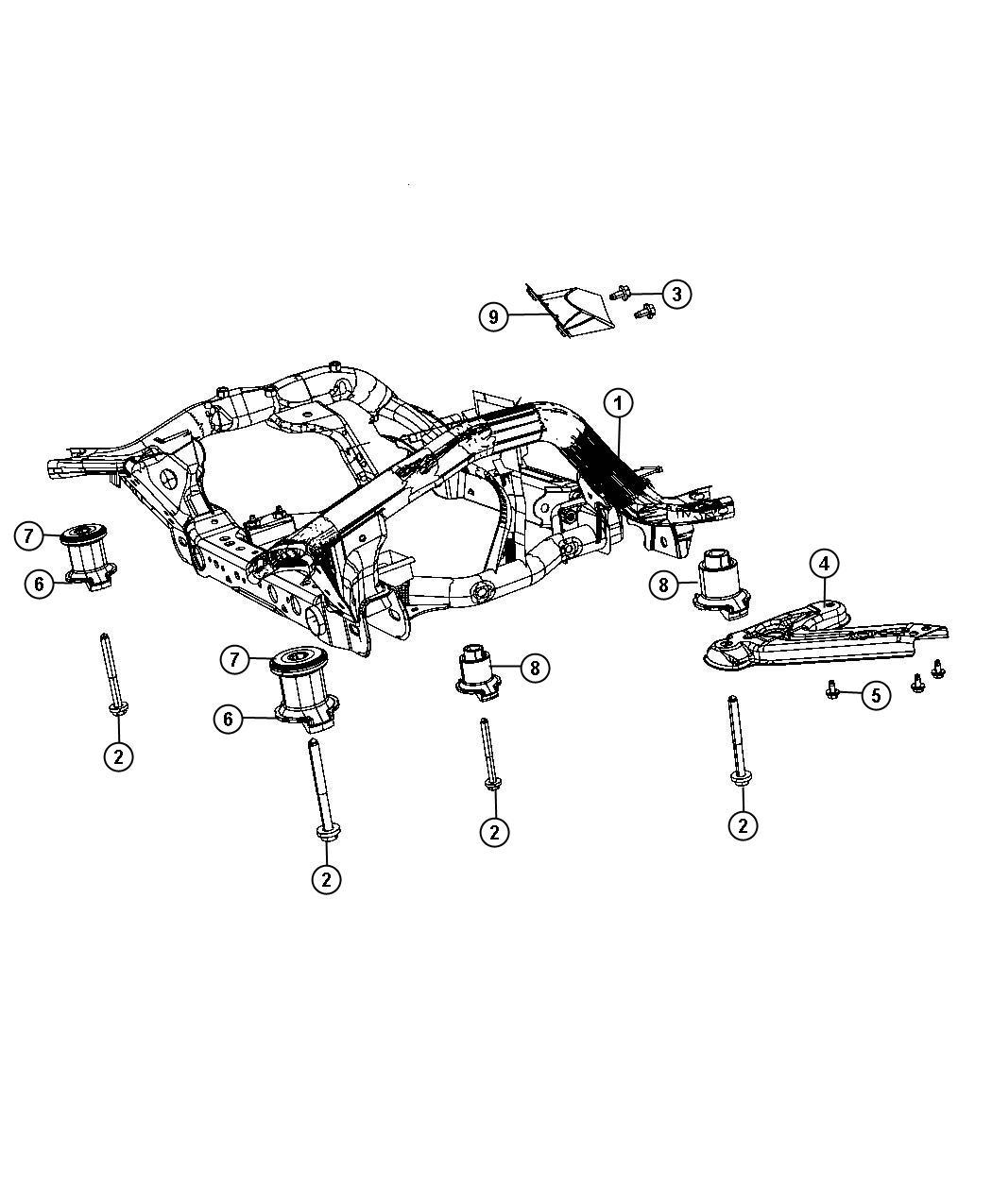 Dodge Durango Isolator Cradle Front Suspension Parts