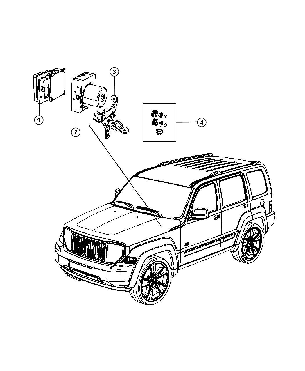 Jeep Liberty Module Anti Lock Brake System Stability