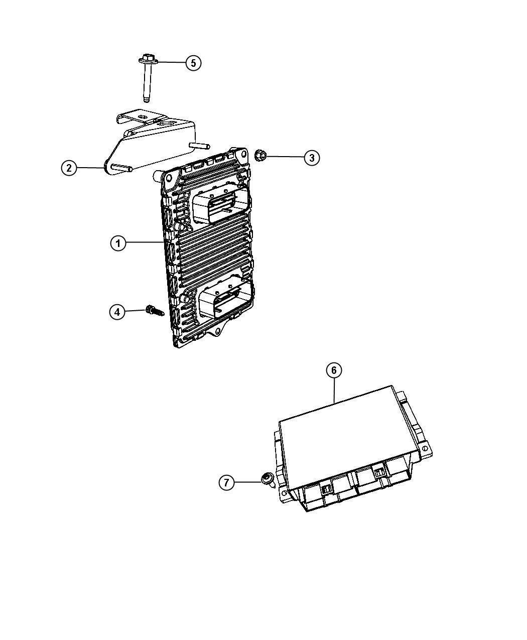 Dodge Challenger Bracket Engine Control Module