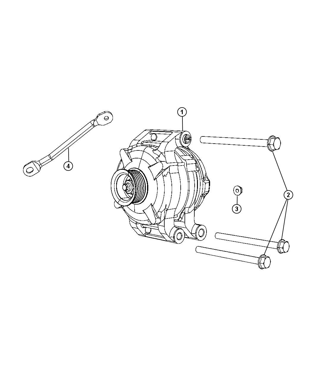 Chrysler 300 Strut Alternator Bracket Engine Side Rwd