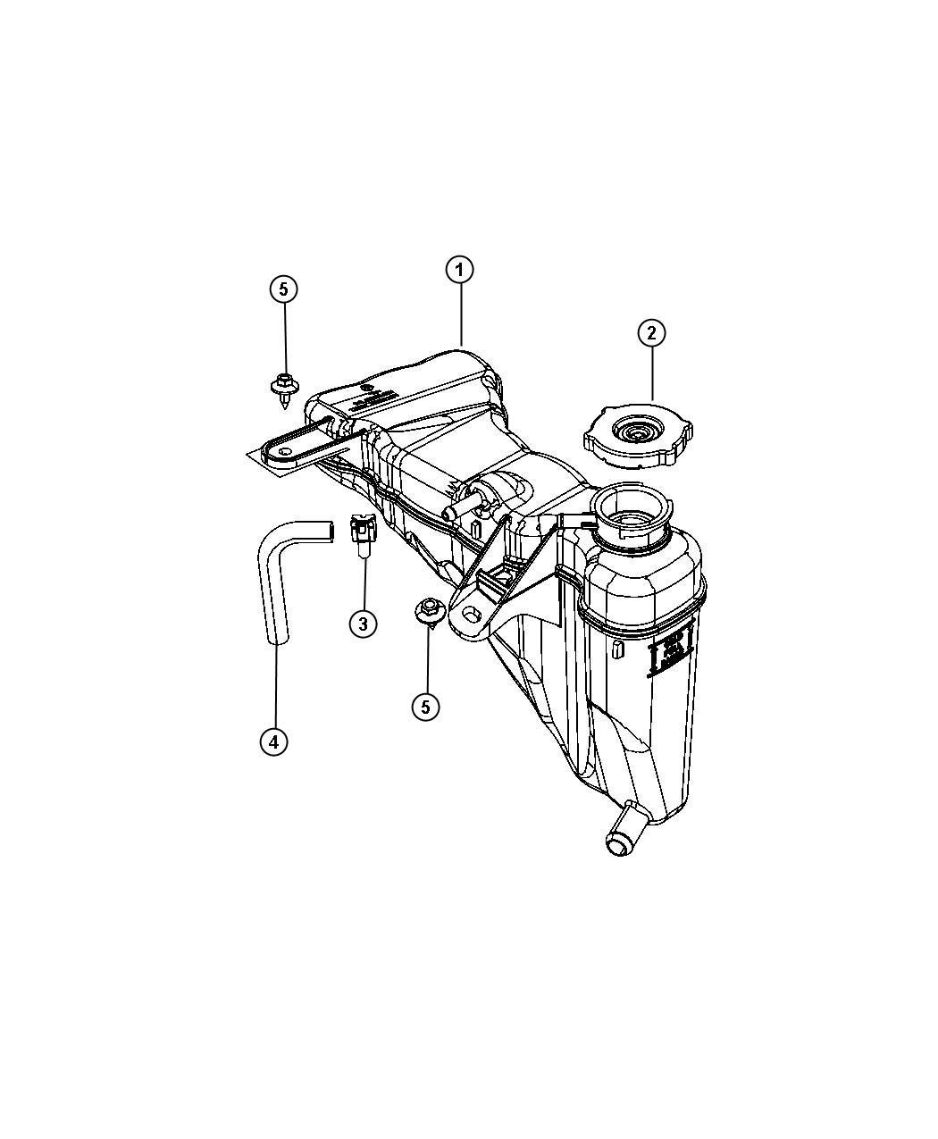 Chrysler Sebring Cap Coolant Recovery Bottle