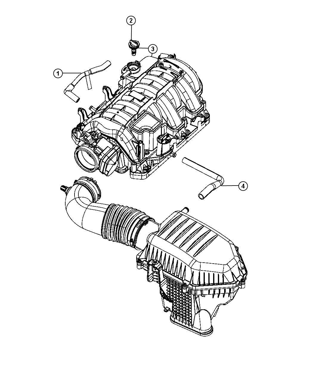 Chrysler 300 Seal Pcv Upper