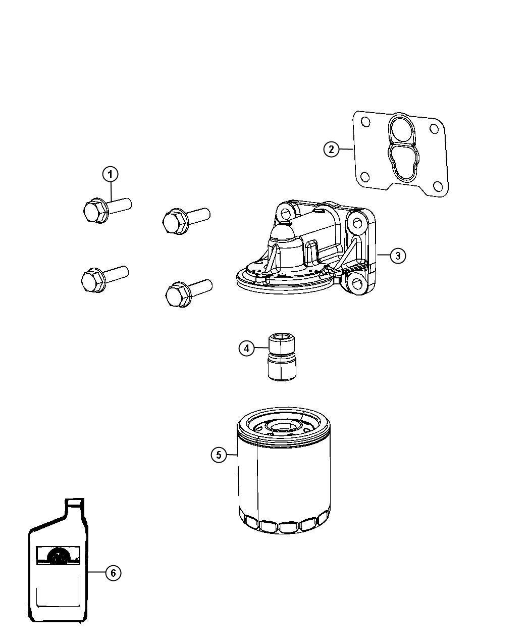 Dodge Caliber Gasket Oil Filter Adapter Engine Vvt