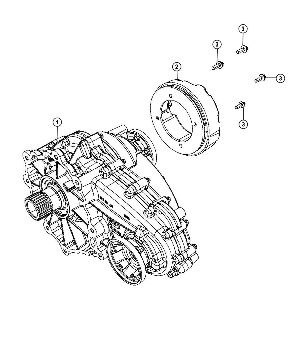 Dodge Transfer Case Dhy Assembly Identification