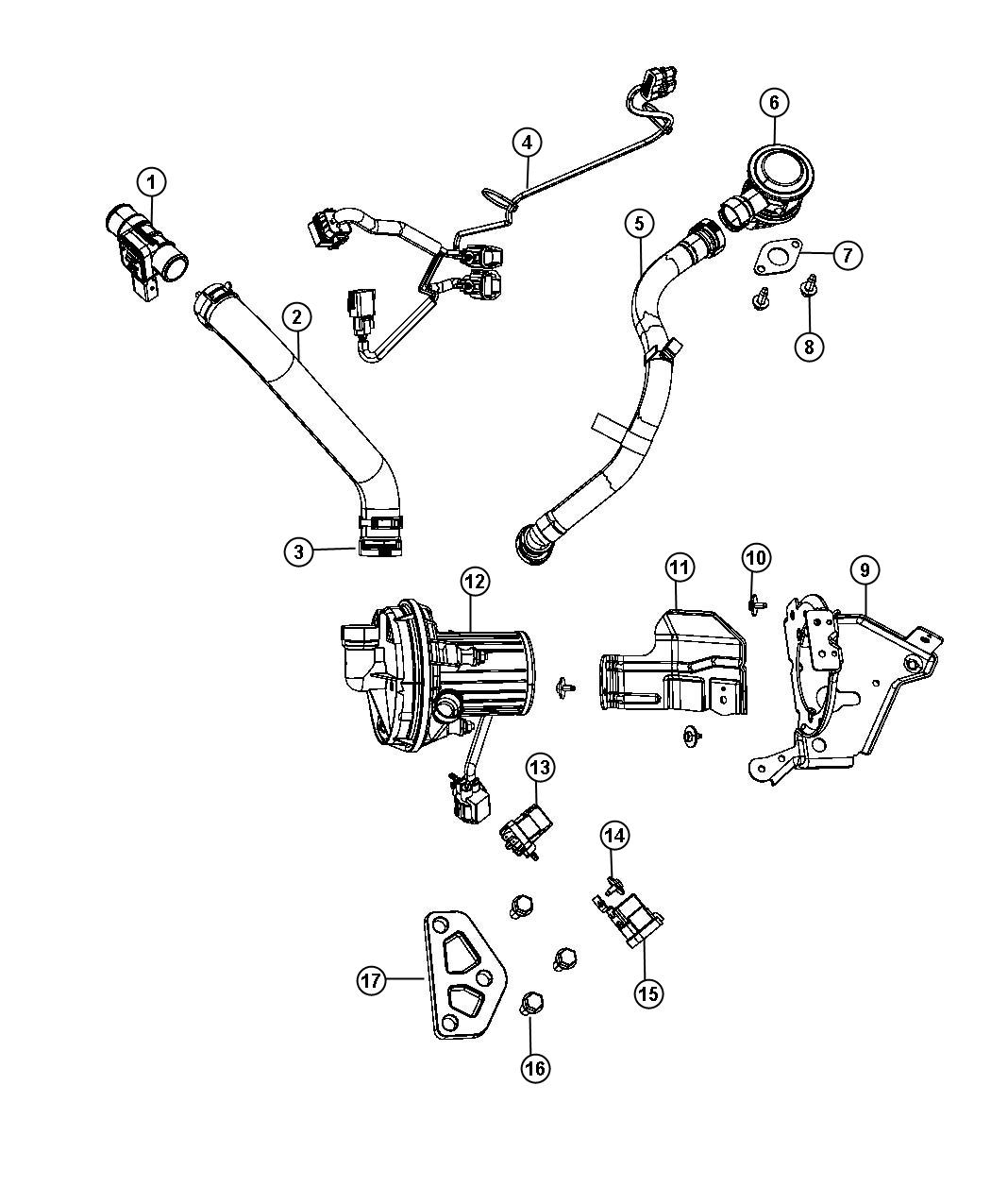 Dodge Avenger Valve Package Air Injection Check
