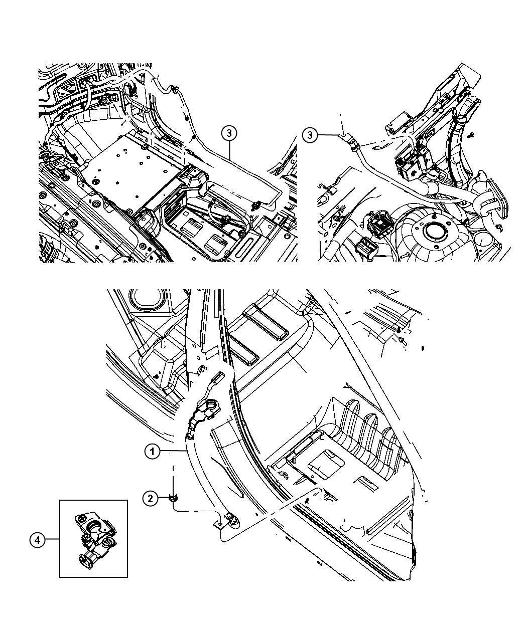 Dodge Durango Terminal Kit Positive Battery Wiring Tray