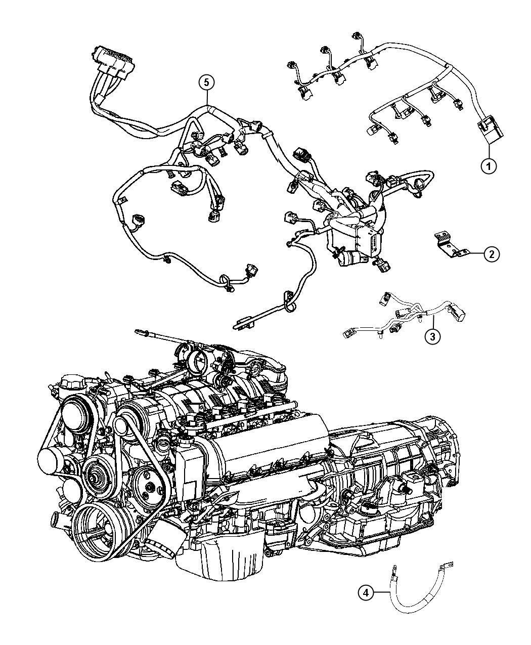 Dodge Durango Wiring Engine Gas Powertrain Mopar