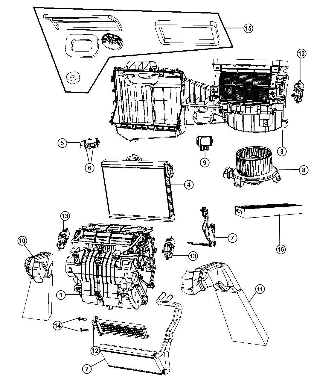 Jeep Wrangler Housing Blower Motor Seal Plate