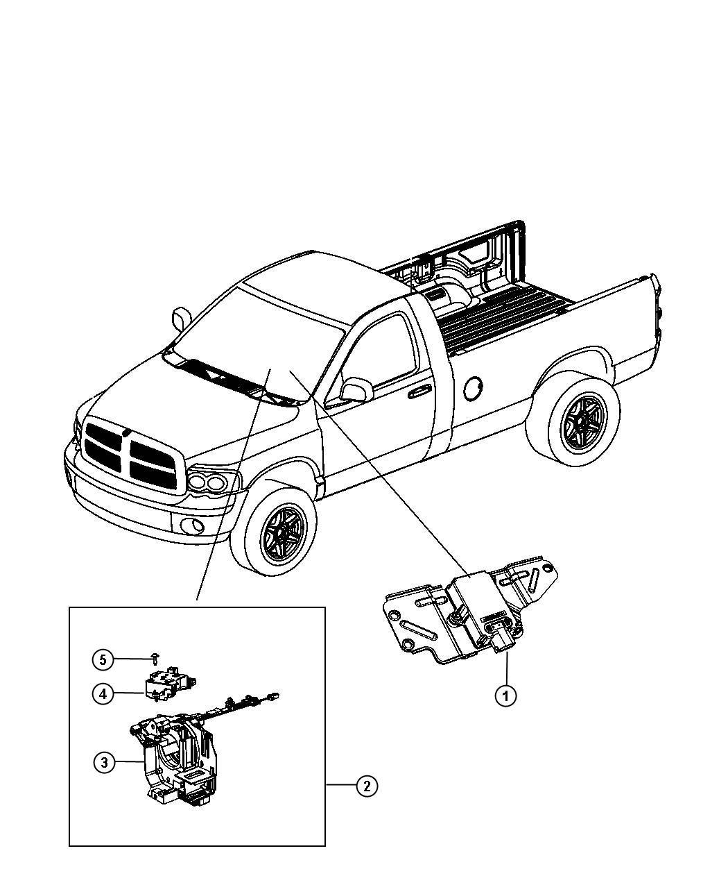 Dodge Ram Sensor Angle Sensor Clockspring Kit