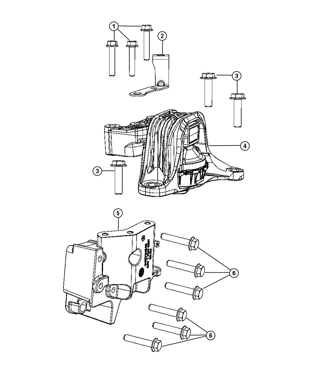 Ram Promaster City Wagon Bolt Hex Flange Head M10x1