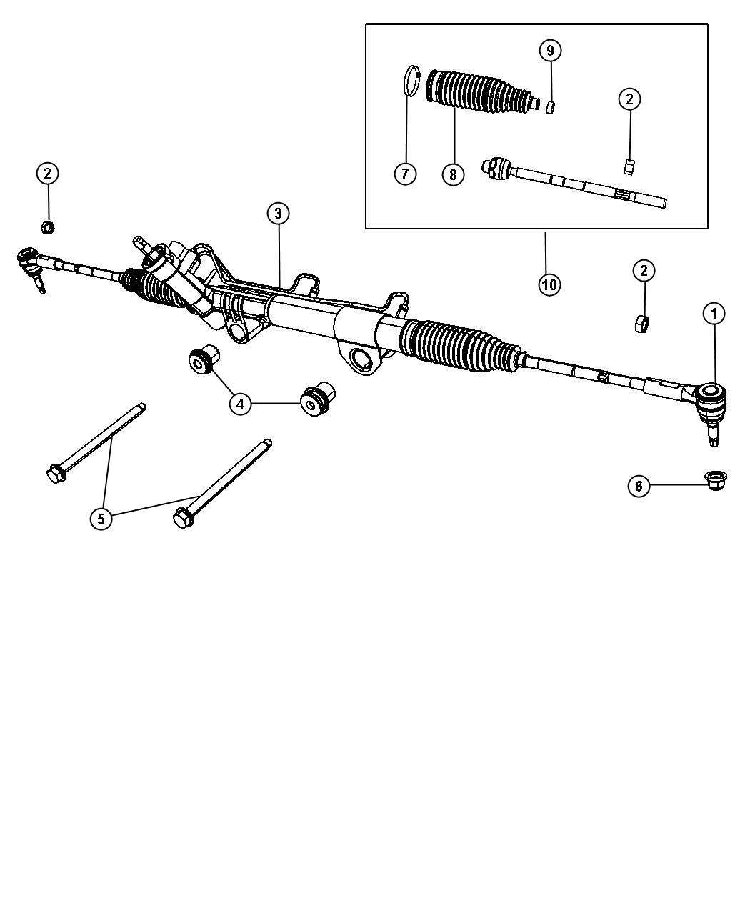Ram Tie Rod End Tie Rod Kit Outer Outer End