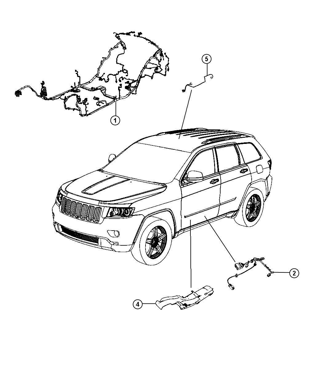 Jeep Grand Cherokee Wiring Body Export Premium Alpine